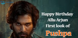 Allu Arju Bio Pushpa first look happy birthday