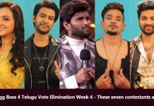 Bigg Boss 4 Telugu Vote Elimination Week 4 seven contestants nominated